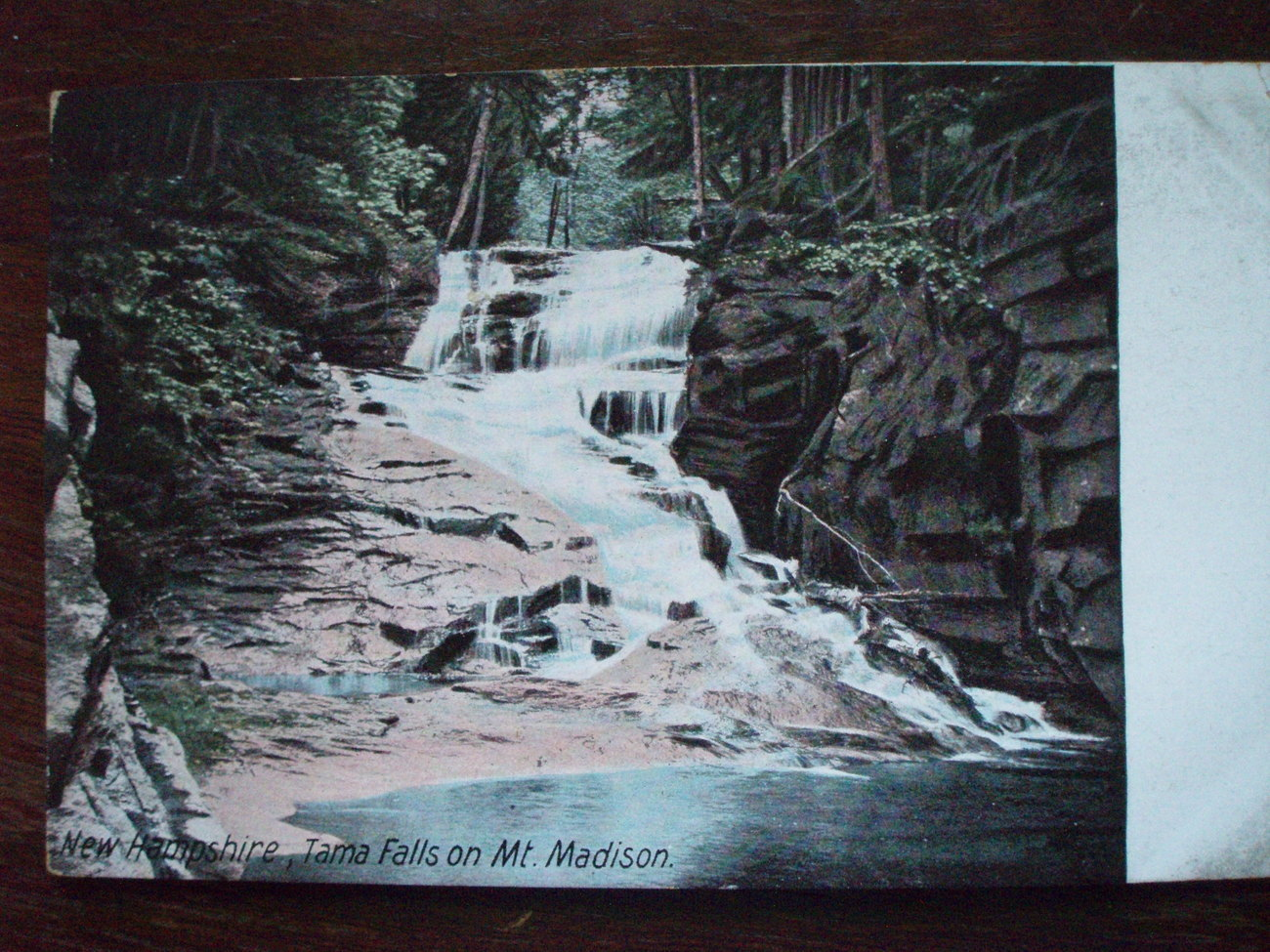 Thumbnail of Antique Postcard Tama Falls Mt. Madison NH 1900
