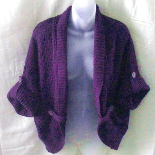 New acrylic burgundy roomy cardigan with adjustable sleeves