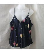 New large camisole and panties in black with fl... - $10.00