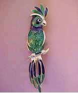 Vintage Parrot Cockatoo Enameled Pin Brooch num... - $12.00