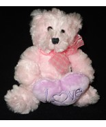 Burton and Burton Pink Love Teddy Bear Shaggy P... - $19.97