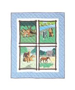 85x95 HORSE FRIENDS Patch Quilt Blanket Throw Q... - $220.00