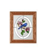 10x12 Stained Art Glass BLUEBIRD Bird Framed Wa... - $34.50