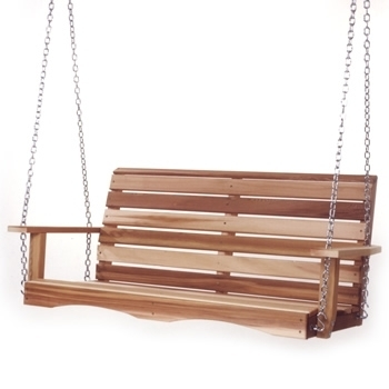 Western RED CEDAR Wood Porch Patio Garden Yard Swing