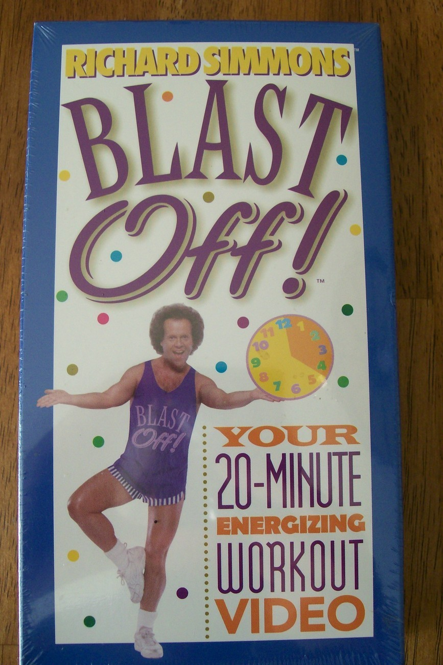 Richard Simmons Blast Off VHS Energizing Workout New Never Opened
