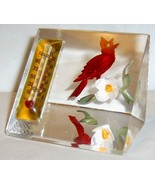 Vintage BIRCRAFT Red Cardinal & Thermometer Pap... - $55.00