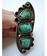 Vintage Navajo Men's Ring Sea Foam Turquoise Si... - $165.00