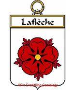 LAFLECHE French Coat of Arms Print LAFLECHE Fam... - $25.00