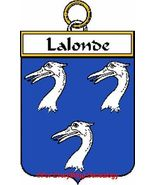 LALONDE French Coat of Arms Print LALONDE Famil... - $25.00