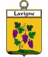 LAVIGNE French Coat of Arms Print LAVIGNE Famil... - $25.00