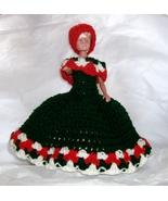 hand crocheted Italia colors bathroom tissue do... - $20.00