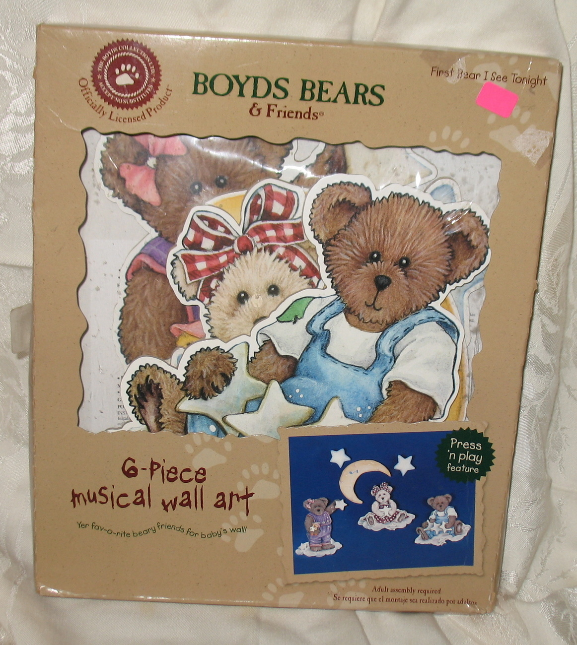Boyds Bears & Friends 6 Piece Musical Wall Art NIB 2002