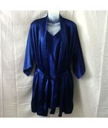 La Lingerie large navy blue short robe and gown... - $15.00