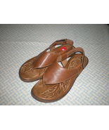 Born Sandals Bora Thong Whiskey Brown Size  6 5 37  NWOB Full Grain Leather