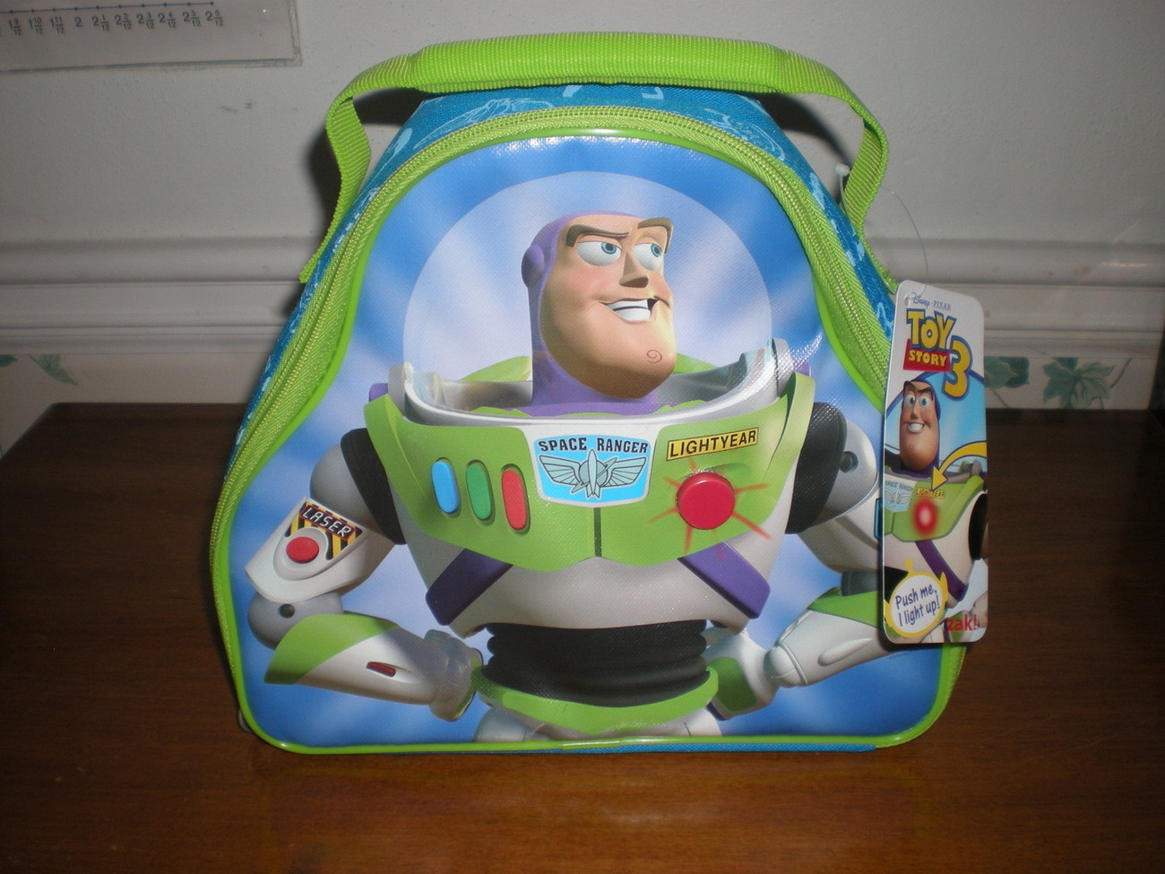 Buzz Lightyear Light Up Lunch Box Bag Insulated Tote Toy Story 3 2 1