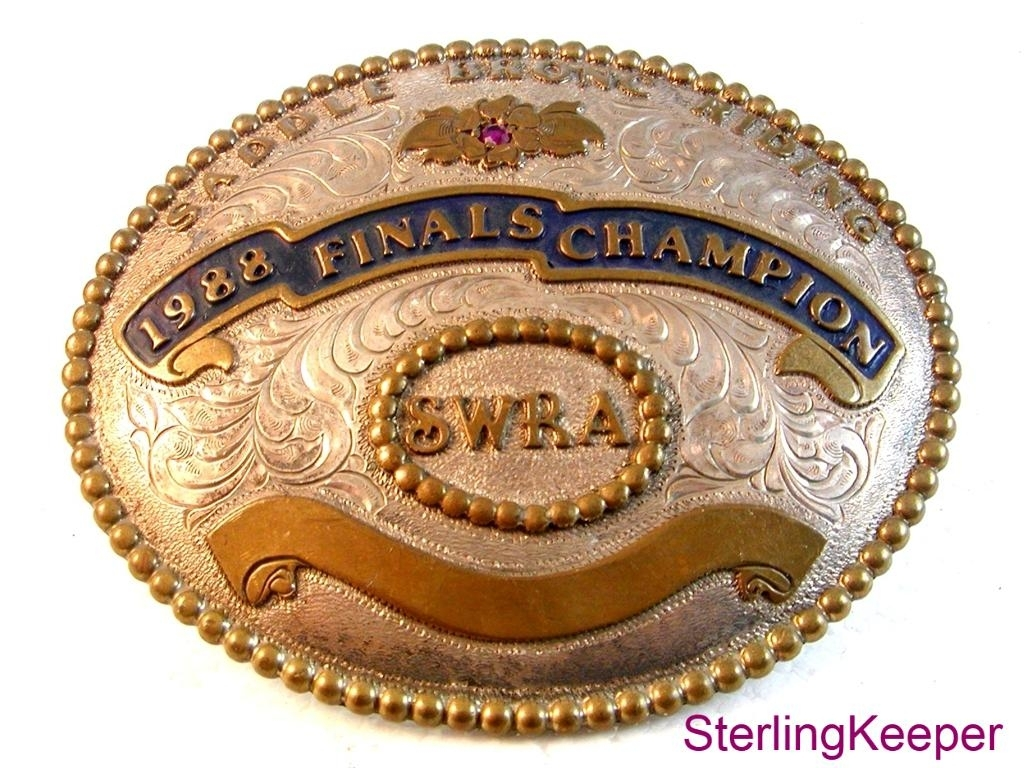 1988 SWRA Southwest Rodeo Association Finals Champion Belt Buckle by Champion
