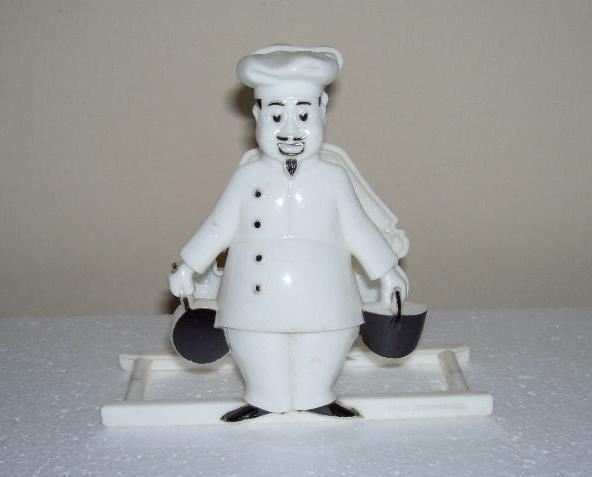 Vintage 1950s Dapol Plastics Chef Napkin Holder