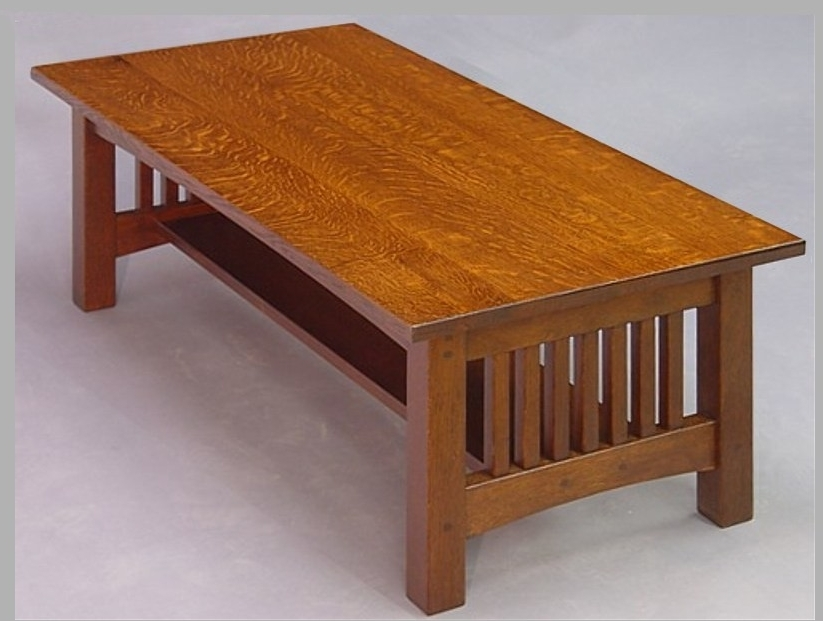 Woodworking mission oak coffee table PDF Free Download