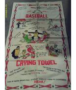 Crying Towel Baseball Vintage Linen Funny