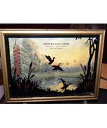 Vintage Advertisement Reverse Painting Ducks T... - $25.00