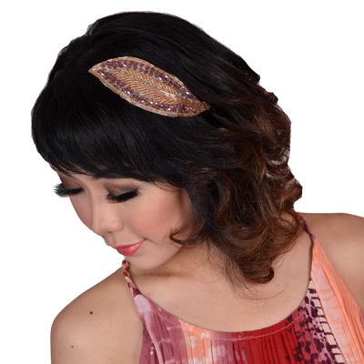 Sophistix - Athena Beaded Hairband in Purple