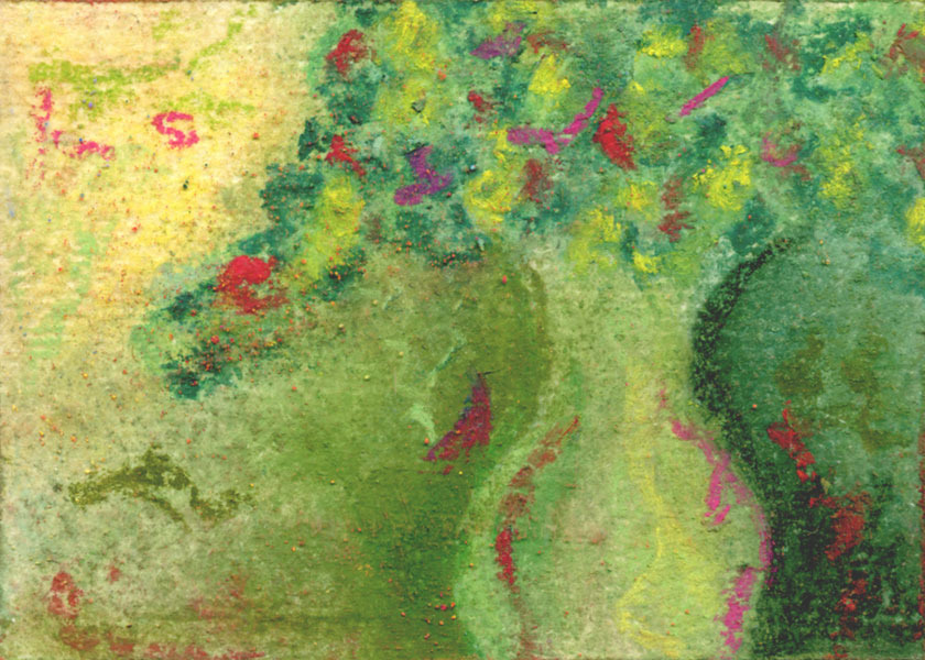 Elegant Green  -  Art Card, Original ACEO
