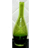 Green Glass Bottle Bud Vase - $7.00