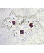 Elegant Napier Purple & Crystal Rhinestone Silv... - $14.95