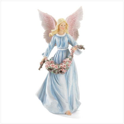 Angel With Roses Figurine