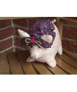 Handmade Stuffed Plush Girl Pig Farm Animal Sta... - $22.95