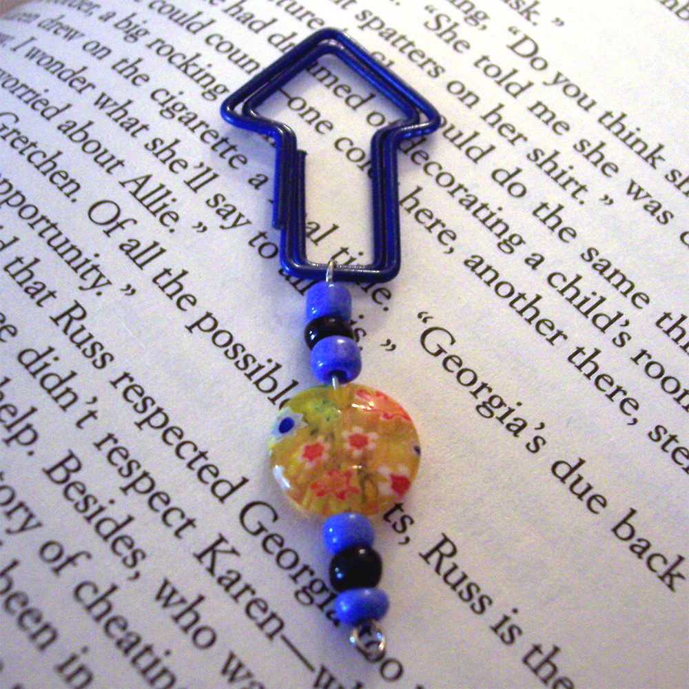 Beaded Page Clip Bookmark - Arrow #1