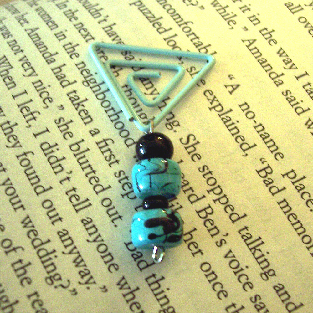 Beaded Page Clip Bookmark - Triangle #2