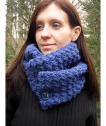 Colonial Blue Cowl - $42.00