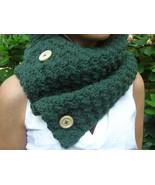 Hunter Green Cowl - Lambs Wool Blend - $42.00