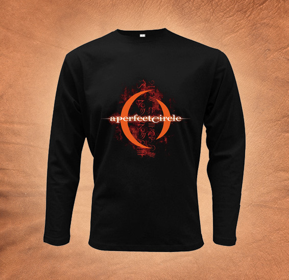 Perfect Circle logo band heavy metal tee mens black t-shirt long sleeve S-XL