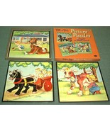 Vintage 1958 Whitman 3 Tell-A-Tale Childrens Pu... - $18.00