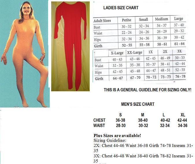 ADULT UNITARD RED FULL BODY SUIT MENS  XXLG