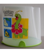 Retired Pokemon Tupperware Cereal Keeper Pantry Meganium Bayleef Chikorita  - $12.99