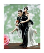 Playful Football WEDDING Couple Cake Topper CUS... - $33.84