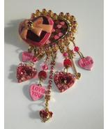 Lunch At The Ritz, Love Themed Brooch Pendant - $99.00