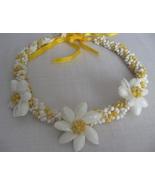Seashell Necklace Choker HAWAIIAN Plumeria Flow... - $6.00