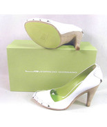 NIB $398 LEOPOLDO GIORDANO WHITE HEELS SHOES 41... - $99.99