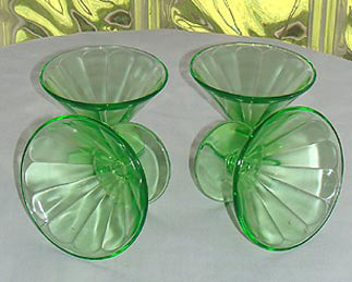 Vintage 1930s Federal Depression Glass Sherbets 4
