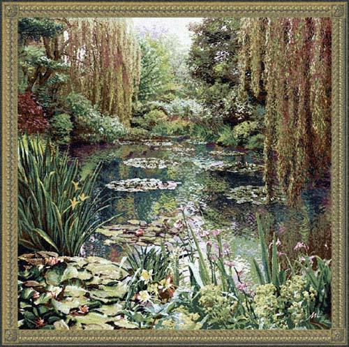 81x89 Monet VERTICAL Gardens Art Tapestry Wall Hanging