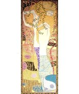 65x24 Klimt WATER SNAKES Serpents Woman Tapestr... - $475.00
