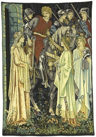 54x40 HOLY GRAIL Knight Medieval Tapestry Wall Hanging