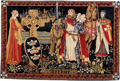 37x54 KING ARTHUR Knight Medieval Tapestry Wall Hanging