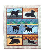 50x60 Patch Quilt BLACK LABRADOR LAB Dog Throw ... - $115.00