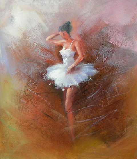36x24 BALLERINA Ballet Oil Painting Canvas Wall Hanging