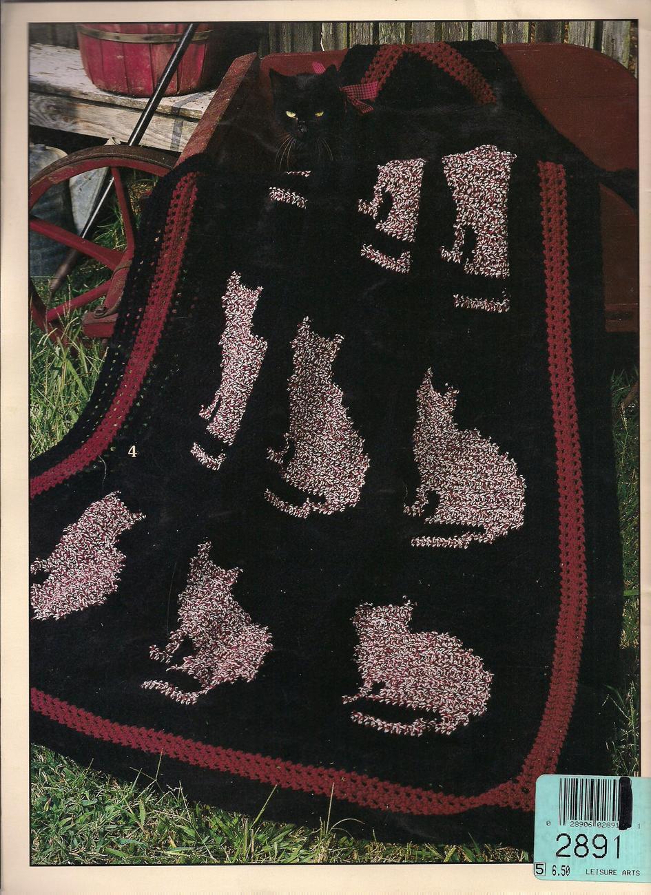 AFGHAN PURR-FECTION Cat kitten lovers afghan crochet ...
